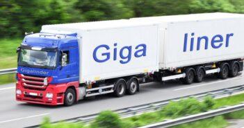 Hygieneartikel-Industrie testet Gigaliner
