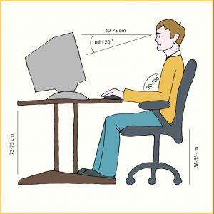 Die ideale Einstellung der Bildschirmposition mit angegebenen Winkeln (#2)