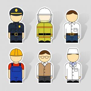 Infografik: Verschiedene Arten typischer Berufskleidung (#1)