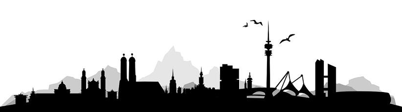 Skyline München: München gehört auch zu den Börsenstädte in Bayern