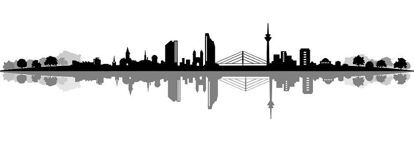 Skyline Düsseldorf: Ja auch diese Stadt gehört dazu