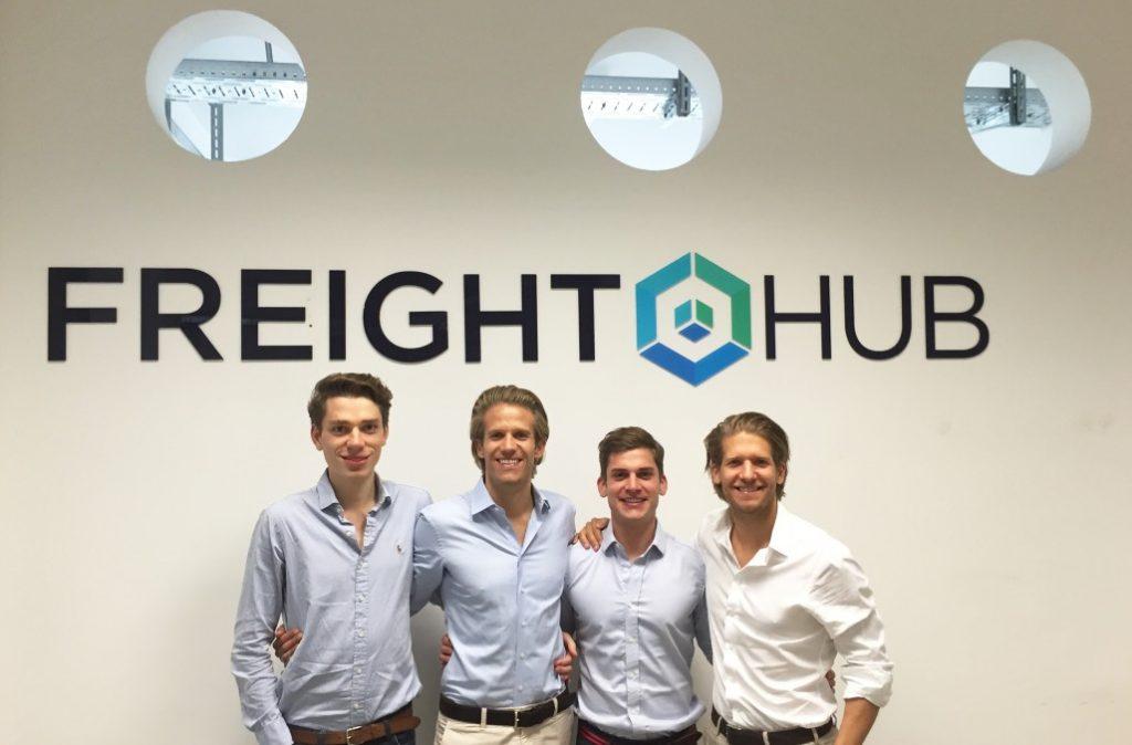 Das frische Freighthub-Team, bestehend aus Erik Muttersbach, Ferry Heilemann, Michael Wax und Fabian Heilemann (von links). (#3)