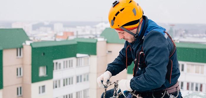 Höhenarbeiten an Hochhäusern oder Bürogebäuden