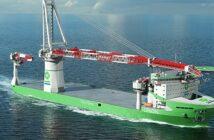 """Liebherr liefert seinen bisher größten Kran für das neue Spezialschiff """"Orion""""."""