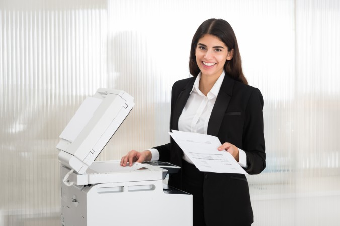 Beliebt sind in Büros vorzugsweise Drucker mit integriertem Scanner. (#2)