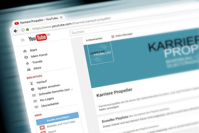 """Videomarketing auf YouTube bespielsweise dient unter anderem der Übermittlung von Expertenwissen und unterstreicht die Kompetenz eines Unternehmens, wodurch wiederum die Glaubwürdigkeit erhöht wird. Ein schönes Beispiel ist der YouTube Kanal """"Karriere Propeller"""". (#1)"""