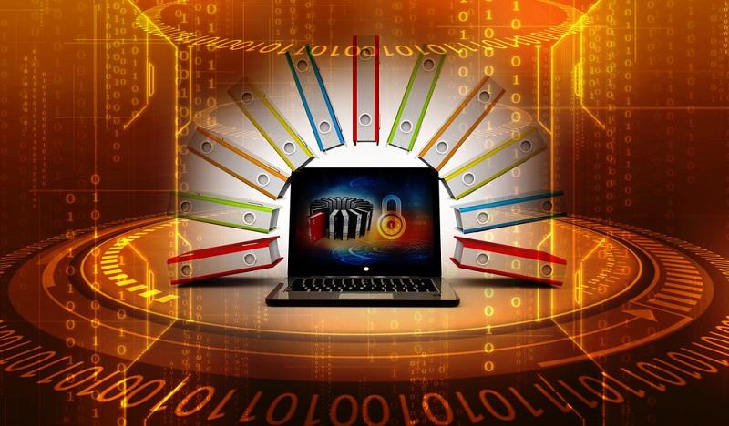 Das Datenbankmanagementsystem organisiert die Speicherung der Daten in einer sinnvollen Struktur. (#01)