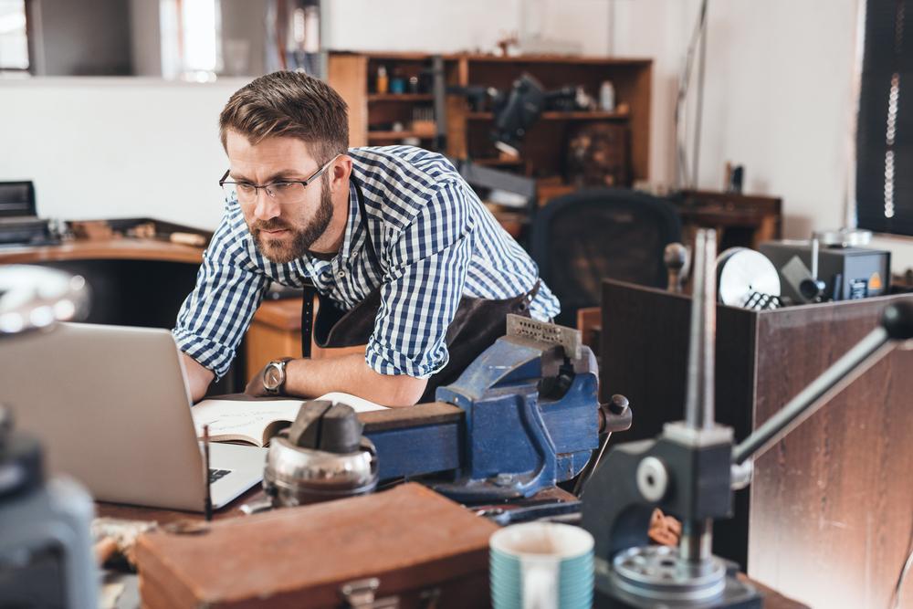 Eine Studie vom Bitkom und dem ZDH ergab, dass 69 Prozent der befragten Handwerksbetriebe die Chancen der Digitalisierung erkennen. (#01)