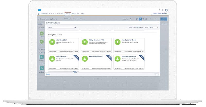 Der Kunde wird analysiert und personalisiert, wenn sich die Marketing Cloud mit ihm befasst.