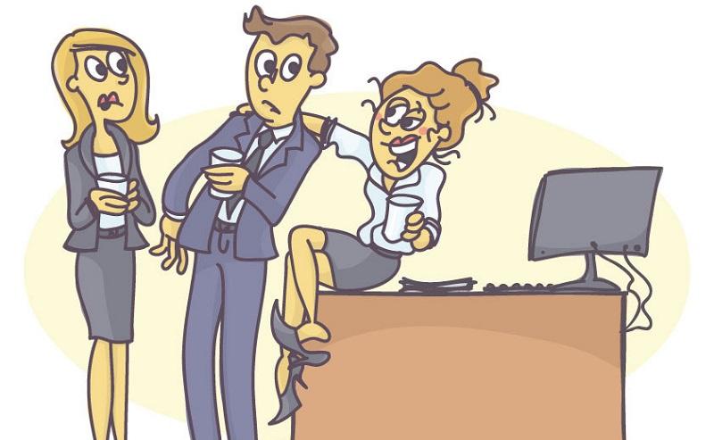 Wer auf einer Weihnachtsfeier betrunken ist, überschreitet oft die Grenze zum unangemessenen Verhalten. (#07)