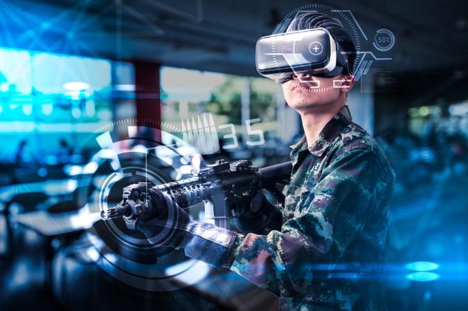 Sehr beliebt bei The Void VR sind natürlich die Ego-Shooter Spielbereiche, in denen der Spieler in einer frei begehbaren, dreidimensionalen Welt agiert und Gegner bekämpft. (#3)