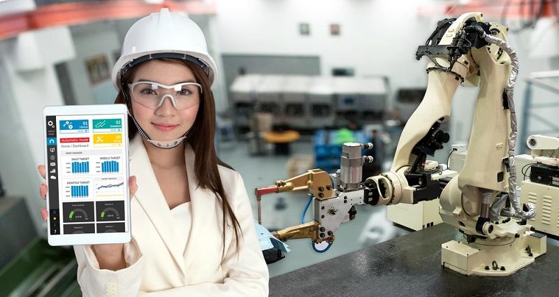 Die intelligenten Roboter werden auf die jeweilige Branche angepasst und sorgen für ansteigende Produktionszahlen bei gleichzeitiger Reduzierung der Fehlerquote. (#02)
