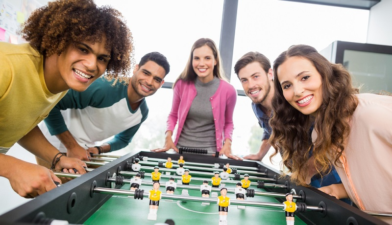 Spielen im Büro mit Kollegen: Aber bitte nur in den Pausen (#3)