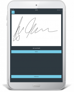 Qualitätsmanagement App: Die elektronische Unterschrift dokumentiert den Prozess der Qualitätssicherung zuverlässig.(#2)