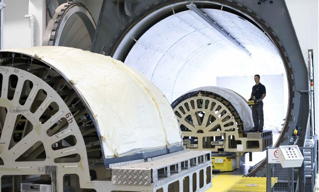 Aushärtung von Triebwerksverkleidungen im Autoklav im FACC Werk 4 in Reichersberg in Oberösterreich. (#1)