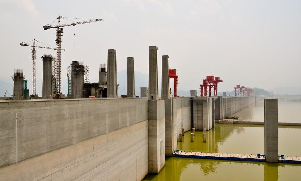 Ausschnitt der Baustelle des Drei Schluchten Staudamm. (#3)
