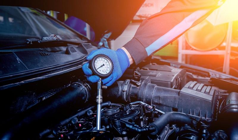 Temperaturmessung an einem Motor