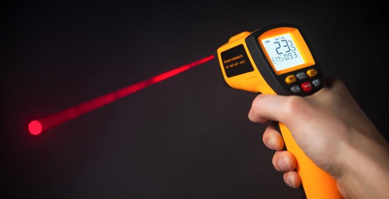 Infrarotthermometer messen berührungslos Temperaturen von Oberflächen