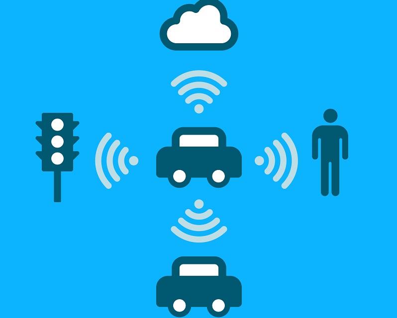 C V2X für die Kommunikation mit anderen Verkehrsteilnehmern, der Straßen-Infrastruktur und mit dem Netzwerk