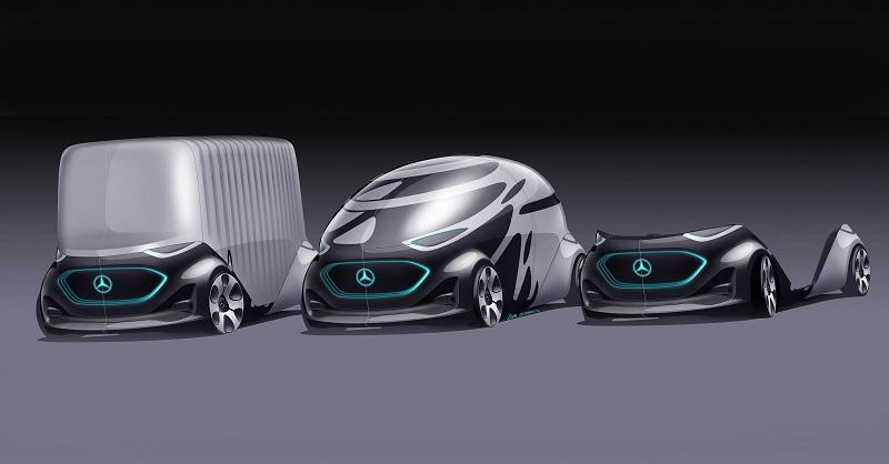 Der Vision Urbanetic ist mit Modulen für die Personen- und für die Güterbeförderung erhältlich.