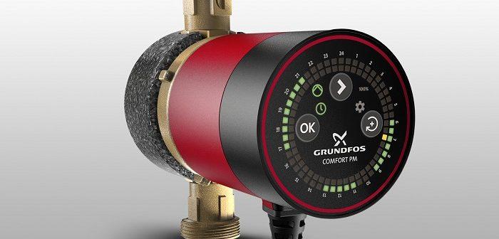 Comfort BU/BXU: Zirkulationspumpe mit digitaler Zeitschaltuhr (Foto: Grundfos