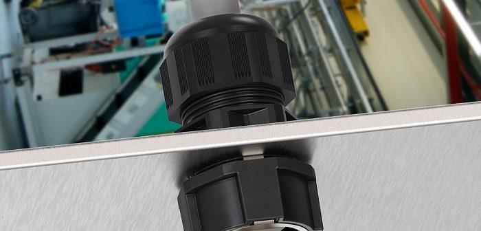 MagikNUT: EMV-Gegenmutter aus Kunststoff (Foto: WISKA)