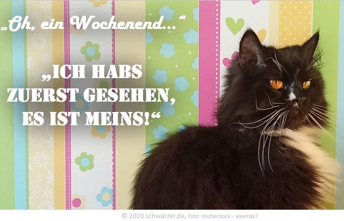 """Wochenend-Spruch: """"Oh, ein Wochenend…"""" - """"Ich habs zuerst gesehen, Es ist meins!"""""""